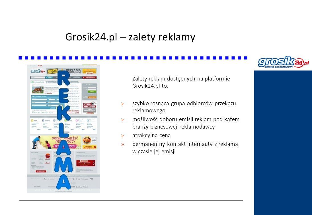 Grosik24.pl – zalety reklamy Statystyki DziennikPolski24.pl Zalety reklam dostępnych na platformie Grosik24.pl to: szybko rosnąca grupa odbiorców prze