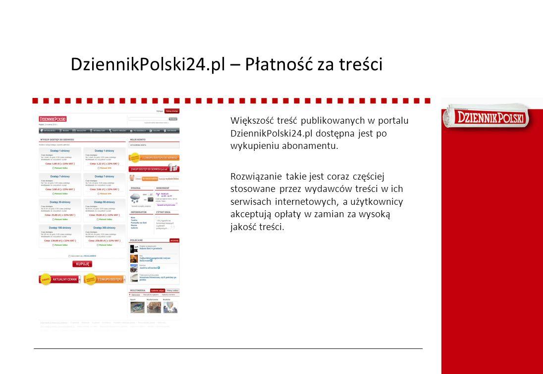 DziennikPolski24.pl – Płatność za treści Większość treść publikowanych w portalu DziennikPolski24.pl dostępna jest po wykupieniu abonamentu. Rozwiązan