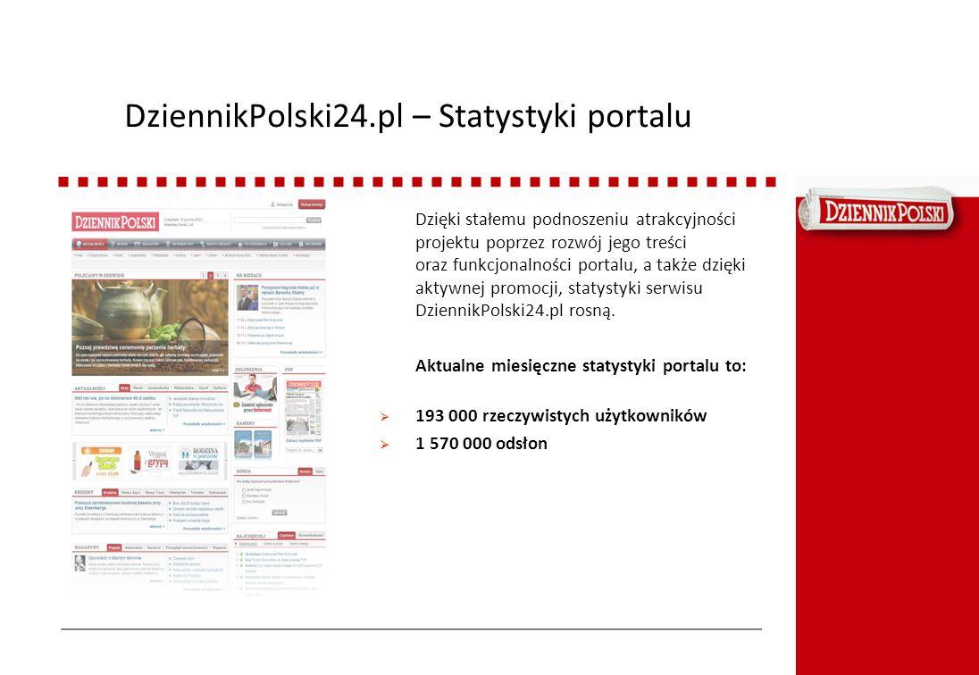 DziennikPolski24.pl – Statystyki portalu Dzięki stałemu podnoszeniu atrakcyjności projektu poprzez rozwój jego treści oraz funkcjonalności portalu, a