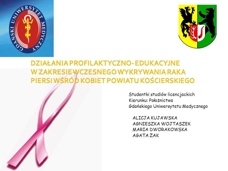 Studentki studiów licencjackich Kierunku: Położnictwa Gdańskiego Uniwersytetu Medycznego ALICJA KUJAWSKA AGNIESZKA WOJTASZEK MARIA DWORAKOWSKA AGATA Ż