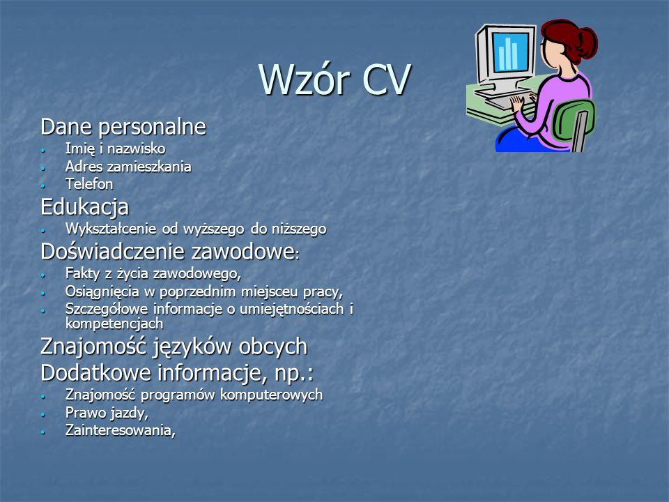 Umiejętności konieczne oprócz zawodu Znajomość języków obcych (jeden biegle) Znajomość języków obcych (jeden biegle) Umiejętność wykorzystania kompute