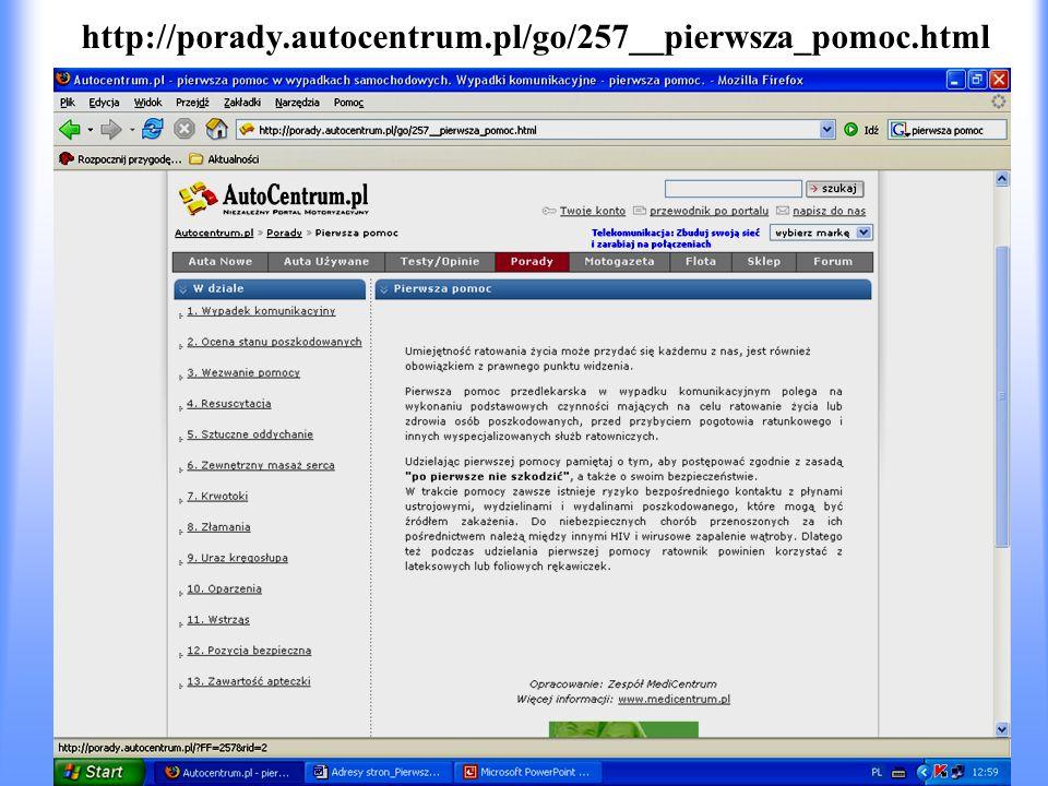 http://porady.autocentrum.pl/go/257__pierwsza_pomoc.html