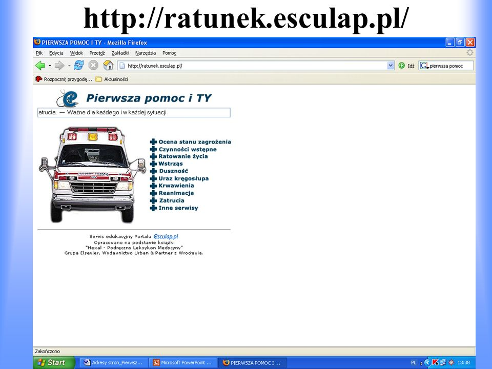 http://ratunek.esculap.pl/