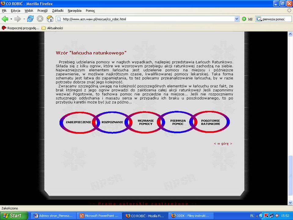 Propozycje pomocy dydaktycznych przydatnych w nauczaniu udzielania pierwszej pomocy
