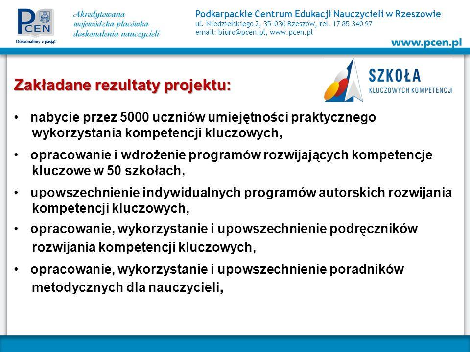 Podkarpackie Centrum Edukacji Nauczycieli w Rzeszowie ul. Niedzielskiego 2, 35-036 Rzeszów, tel. 17 85 340 97 email: biuro@pcen.pl, www.pcen.pl Zakład