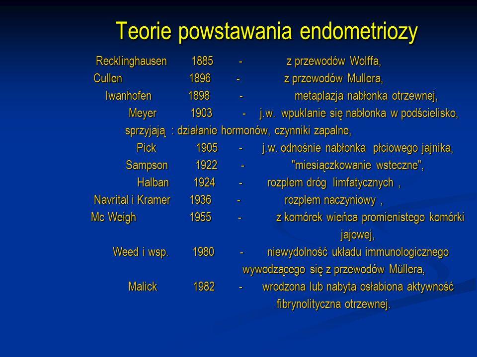 Wpływ endometriozy na ciążę Odsetek poronionych ciąż wynosi 40% ( w całej populacji 15-20%).
