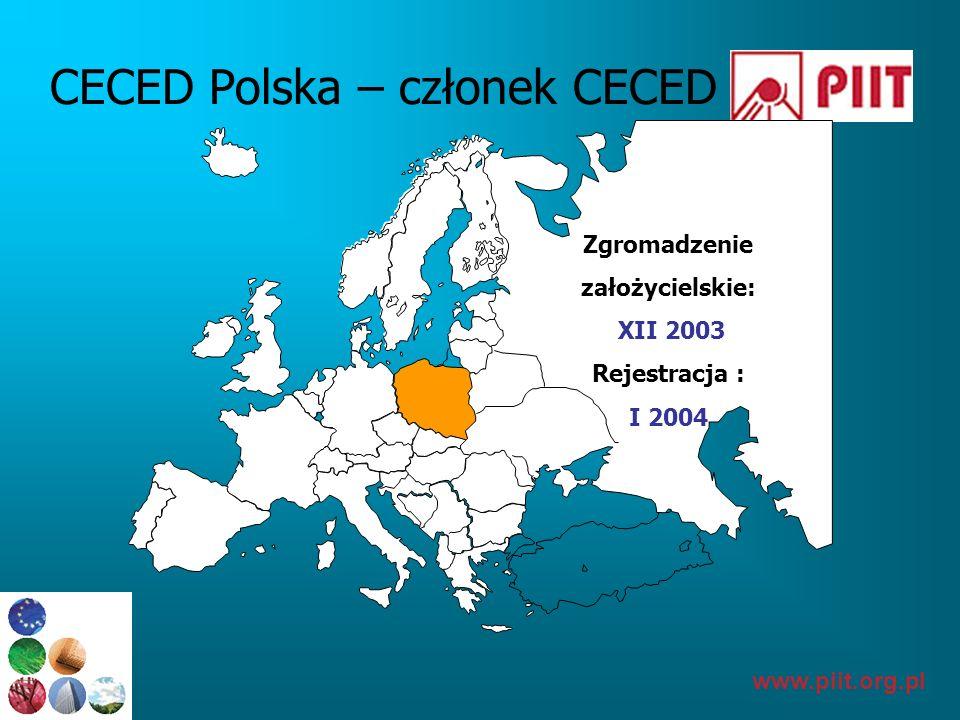 www.piit.org.pl Istotne informacje Członkowie CECED Polska stanowią ponad 90% rynku AGD w Polsce, są zatem wiarygodną reprezentacją branży CECED Polska jest JEDYNĄ reprezentacją swoich członków w omawianych sprawach