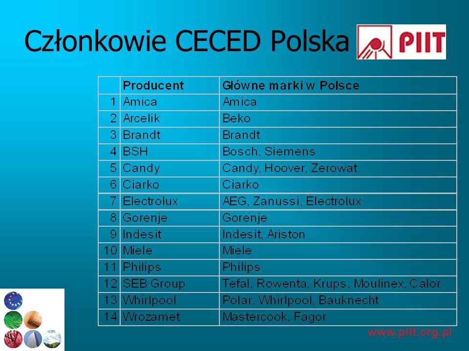 www.piit.org.pl Polska – istotny kraj produkcji AGD Amica kuchnie, lodówki Pralki, BI-płyty...