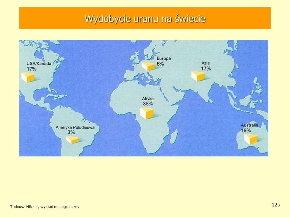 Tadeusz Hilczer, wykład monograficzny 125 Wydobycie uranu na świecie