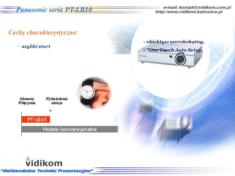 - One-Touch Auto Setup automatyczne ustawienie obrazu wraz z korekcją efektu trapezowego, e-mail: kontakt@vidikom.com.pl http://www.vidikom.katowice.p