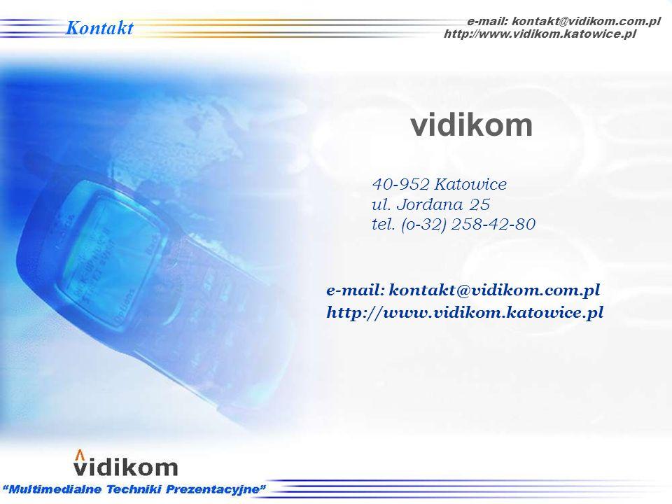 Z naszych usług i oferty sprzętowej skorzystały dotychczas m.in. takie firmy jak: Referencje e-mail: kontakt@vidikom.com.pl http://www.vidikom.katowic