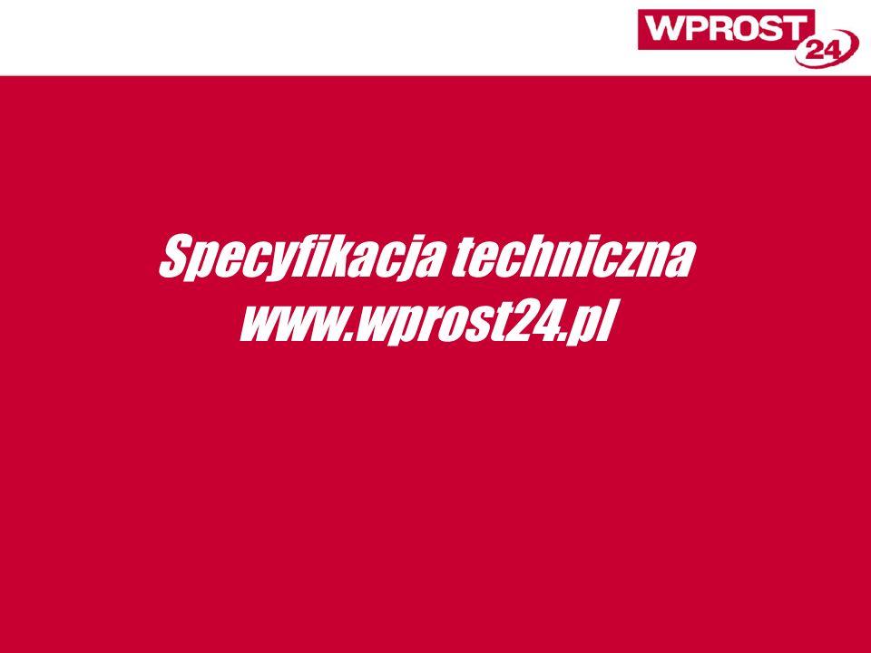 Specyfikacja techniczna www.wprost24.pl