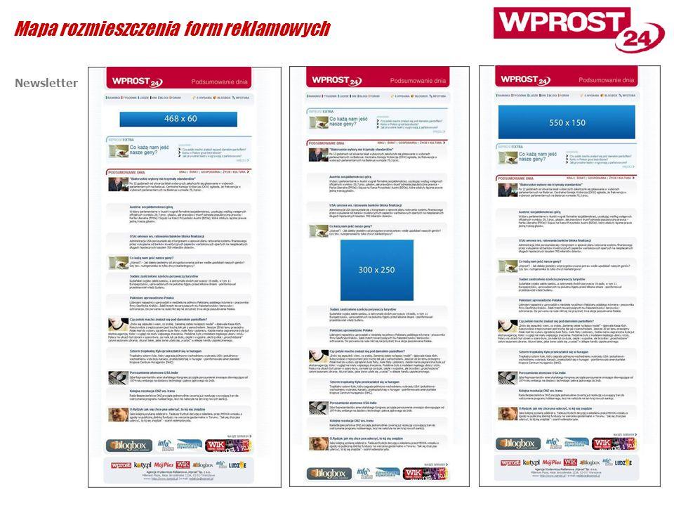Newsletter Mapa rozmieszczenia form reklamowych