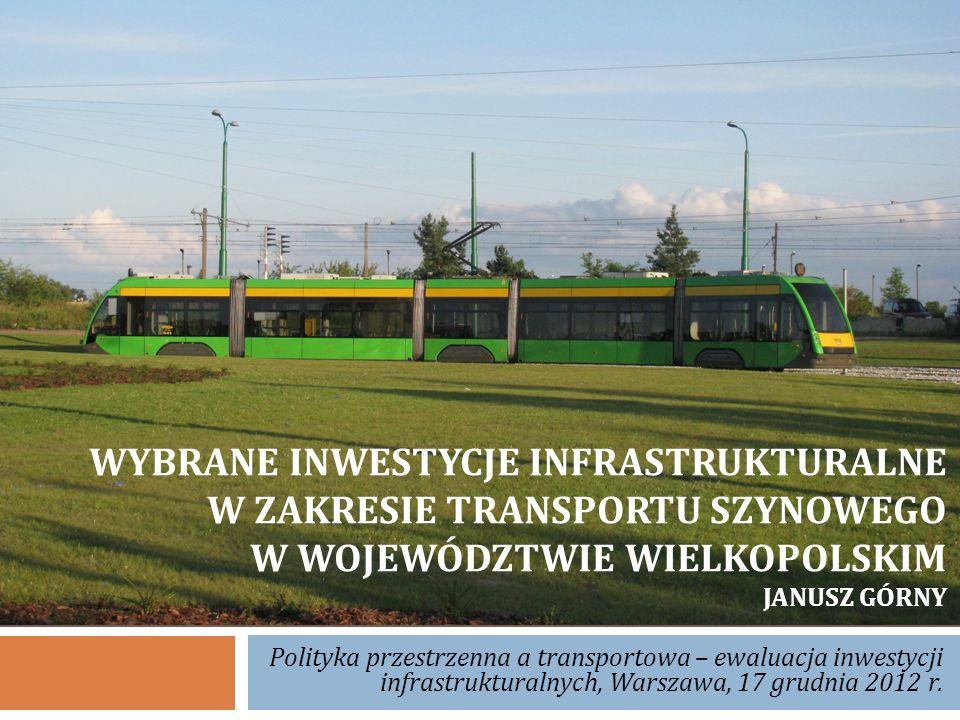 Linia Poznań Wschód - Wągrowiec – budowa i przebieg linii – eksploatacja – dane techniczne – zakres modernizacji Rycina 2.