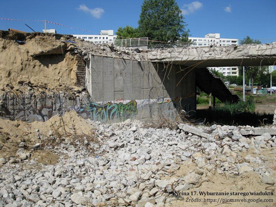 Rycina 17. Wyburzanie starego wiaduktu Źródło: https://picasaweb.google.com