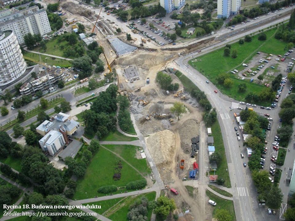 Rycina 18. Budowa nowego wiaduktu Źródło: https://picasaweb.google.com