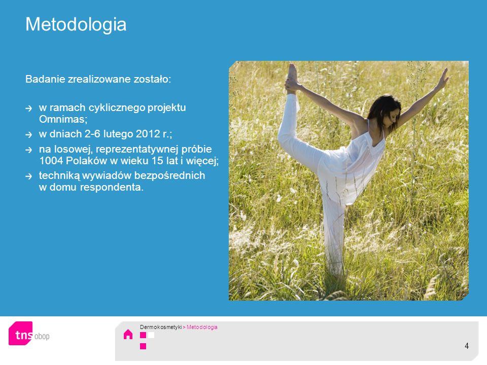 Metodologia Badanie zrealizowane zostało: w ramach cyklicznego projektu Omnimas; w dniach 2-6 lutego 2012 r.; na losowej, reprezentatywnej próbie 1004