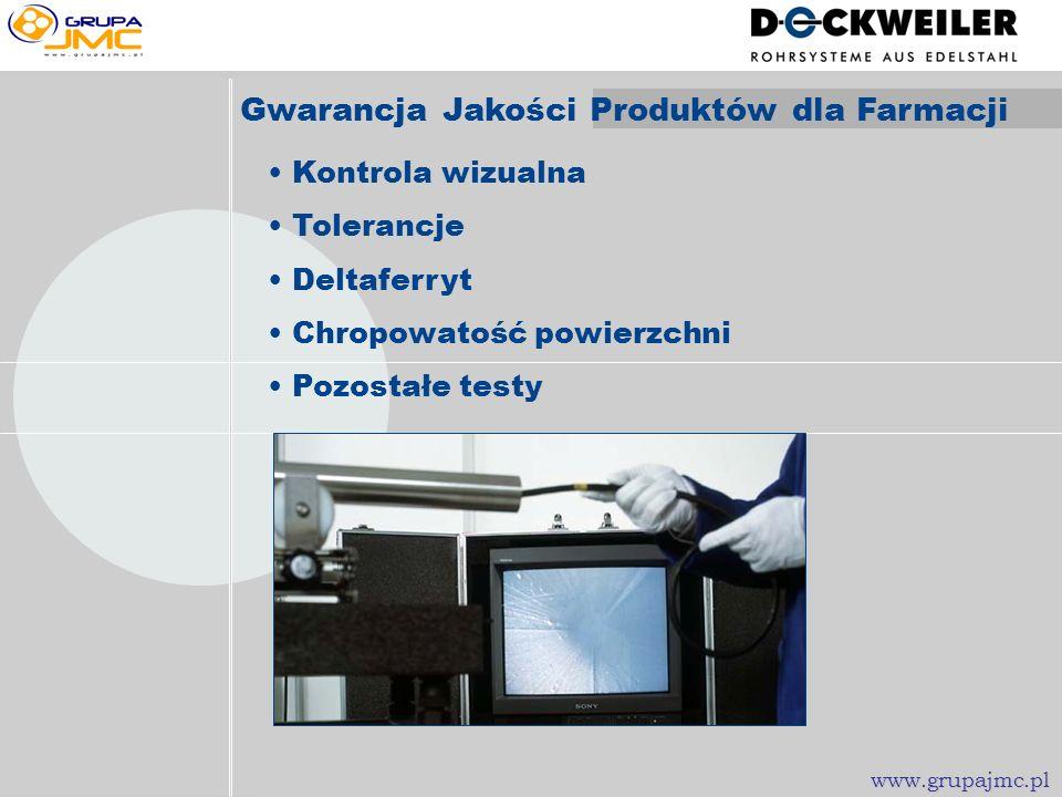 Czyszczenie wstępne Czyszczenie i korkowanie Proces elektropolerowania Optymalizacja powierzchni Elektropolerowanie www.grupajmc.pl