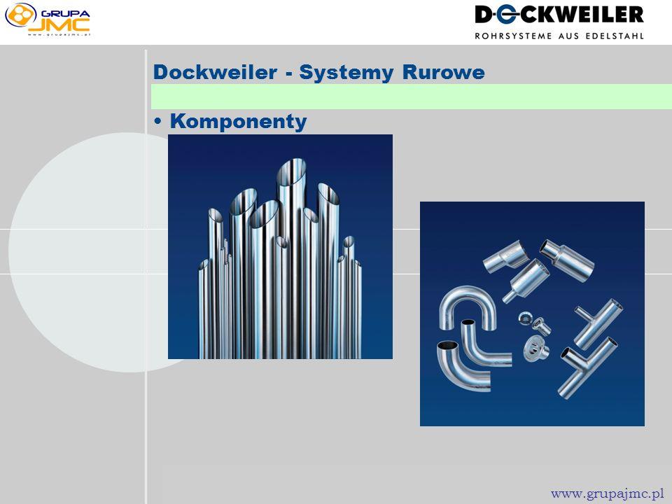 www.grupajmc.pl Dockweiler - Systemy Rurowe Wymiary: Imperial ISO Metryczne 1/8 do 8 13.50 do 168.30 mm 3.00 x 0.50 mm do 154.00 x 2.00 mm www.grupajm