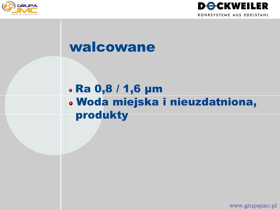 spawane Ra 0,8 / 1,6 µm Woda chłodząca, sprężone powietrze www.grupajmc.pl
