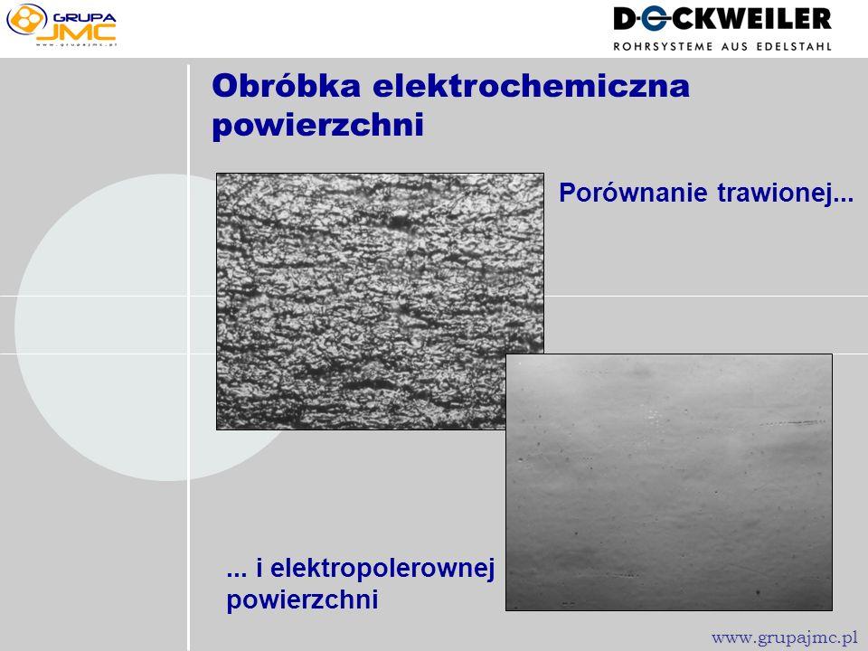 Obróbka elektrochemiczna powierzchni F05036 - powiększenie ok. 500 30 µm www.grupajmc.pl Rura 12,70 1,22 mm, elektropolerowana (HENKEL-Elektrolyt HE 1