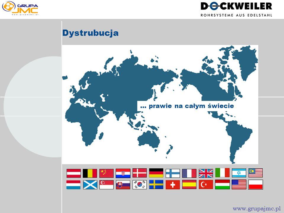 Dystrubucja... prawie na całym świecie www.grupajmc.pl