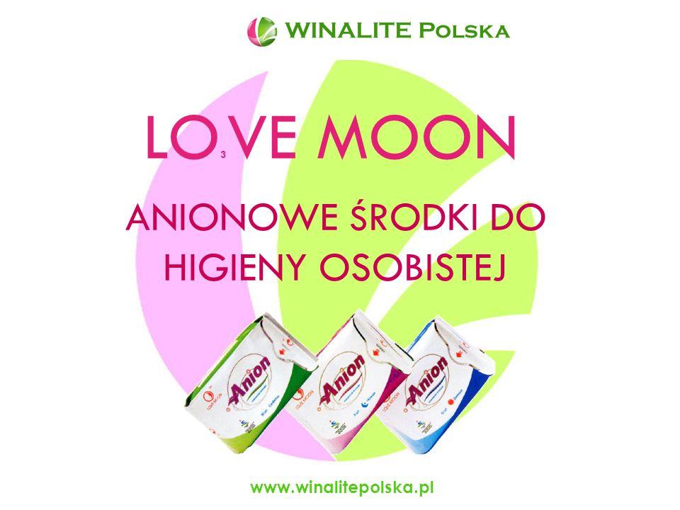 www.winalitepolska.pl Warstwa anionowa produktów LOVE MOON Strumień około 5800 anionów/cm 3 Duża ilość ujemnych jonów i tlenu łatwo wnika do wnętrza ciała i korzystnie wpływa na zdrowie.