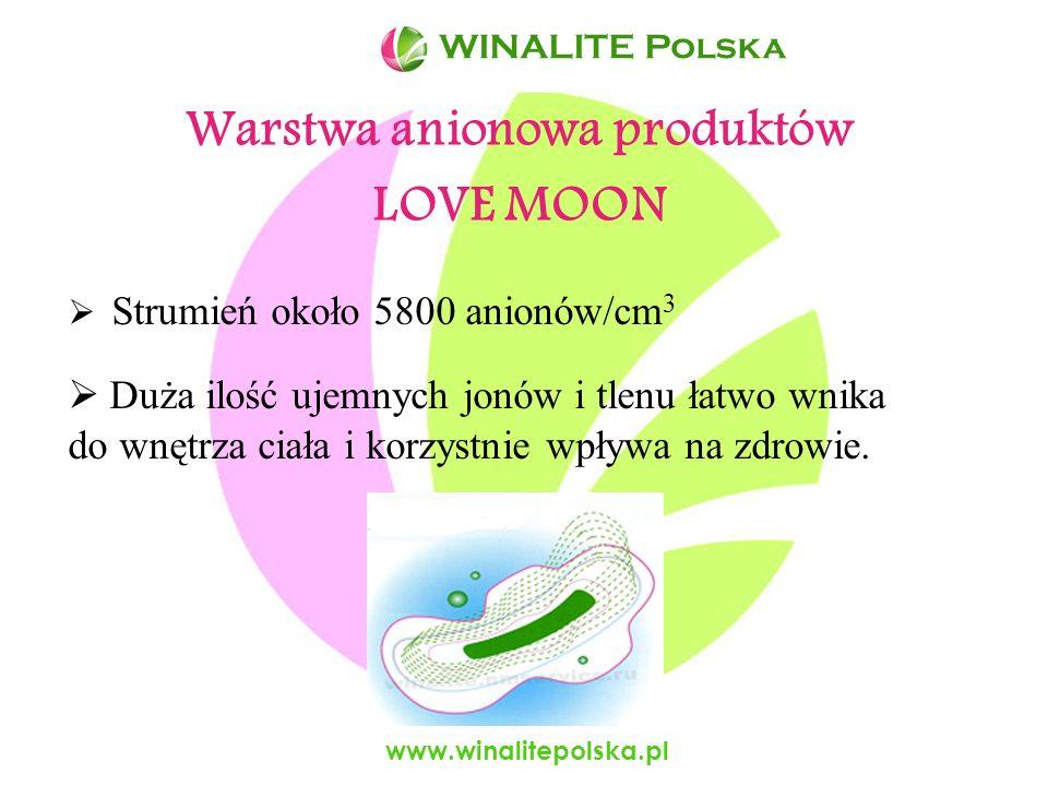 www.winalitepolska.pl Niepowtarzalne zalety produktów LOVE MOON Przepuszczają powietrze, Bardzo dobrze wchłaniają płyny, Wykonane jedynie z naturalnych materiałów, Bezpieczne dla środowiska – biodegradowalne, Odpowiednie dla wszystkich ludzi: - dzieci - osób starszych - kobiet i m ęż czyzn.