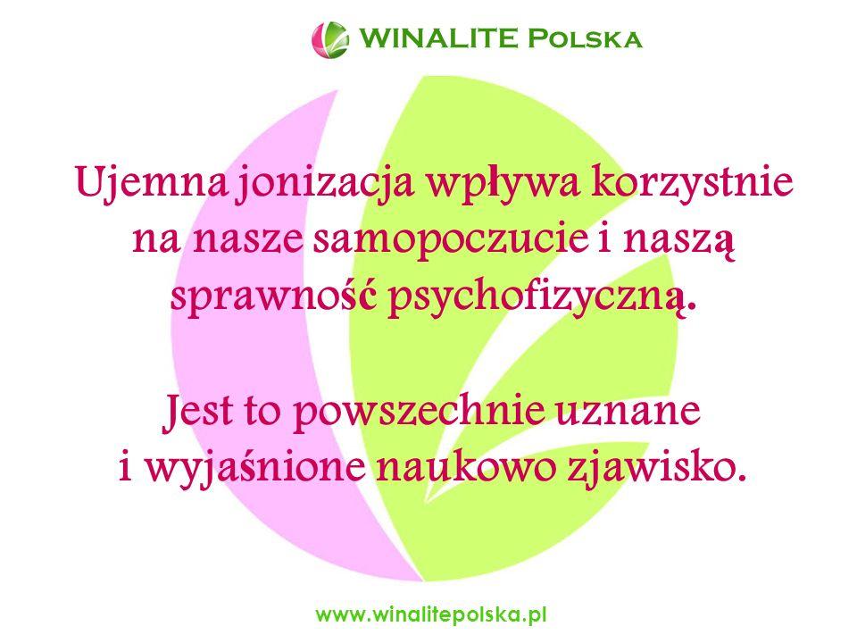 www.winalitepolska.pl -migrenowych bólów głowy, - zmęczenia, problemów ze spaniem, - depresji – wykazano, że aniony są bardziej efektywne niż takie leki jak Prozac, Zolof i nie mają efektów ubocznych.