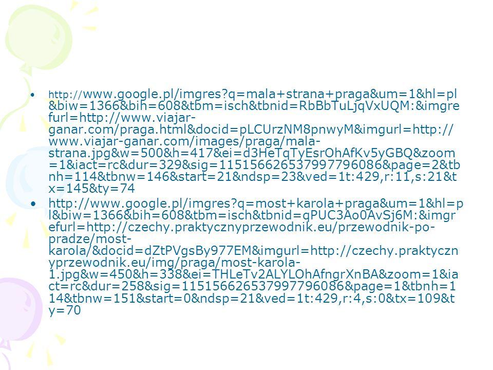 http:// www.google.pl/imgres?q=mala+strana+praga&um=1&hl=pl &biw=1366&bih=608&tbm=isch&tbnid=RbBbTuLjqVxUQM:&imgre furl=http://www.viajar- ganar.com/p