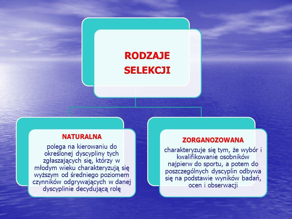Selekcja KryteriaEtapyRodzaje