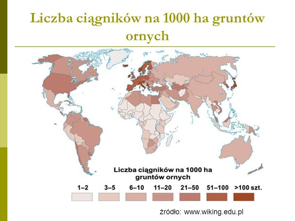 Udział pracujących w rolnictwie w ogólnej liczbie zatrudnionych źródło: www.wiking.edu.pl