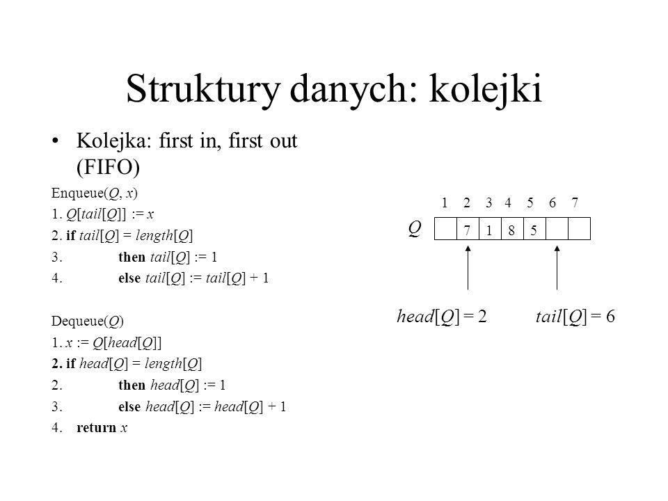 Struktury danych: listy /564/1 head[L] prev key next List-Search(L, k) 1.
