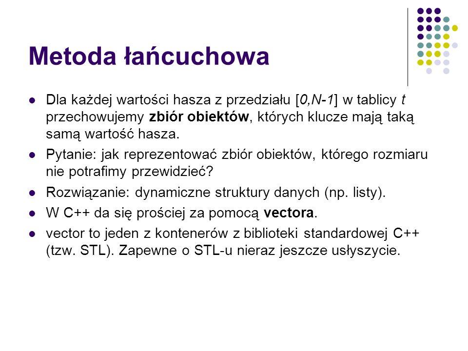 vector w C++ Potrzebujemy załadować plik nagłówkowy: #include using namespace std; vector działa jak tablica zmiennego rozmiaru: vector v; - deklaracja vectora intów (ogólnie vector ) UWAGA: vector domyślnie jest pusty.