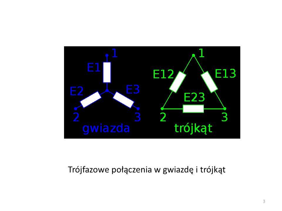 Trójfazowe połączenia w gwiazdę i trójkąt 3