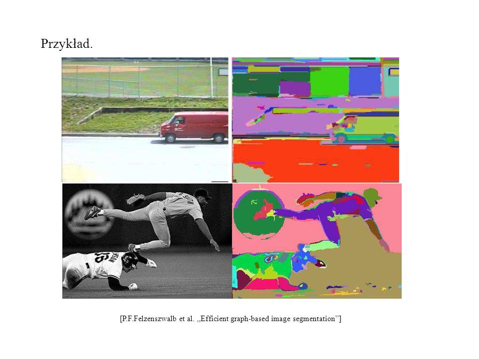 Przykład. [P.F.Felzenszwalb et al. Efficient graph-based image segmentation]