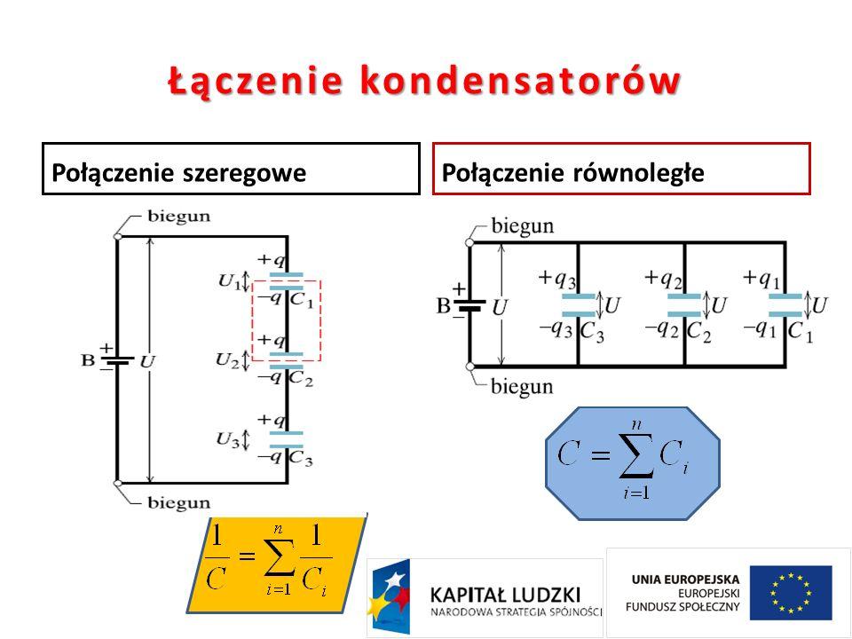 Łączenie kondensatorów Połączenie szeregowePołączenie równoległe