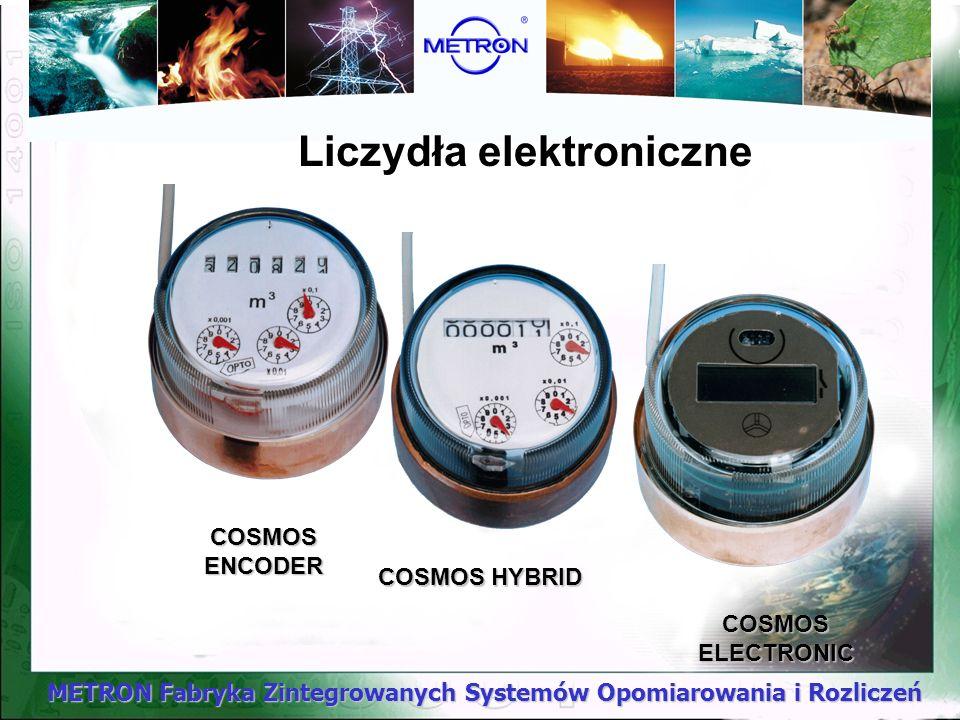 METRON Fabryka Zintegrowanych Systemów Opomiarowania i Rozliczeń COSMOS ENCODER Liczydła elektroniczne COSMOS HYBRID COSMOS ELECTRONIC