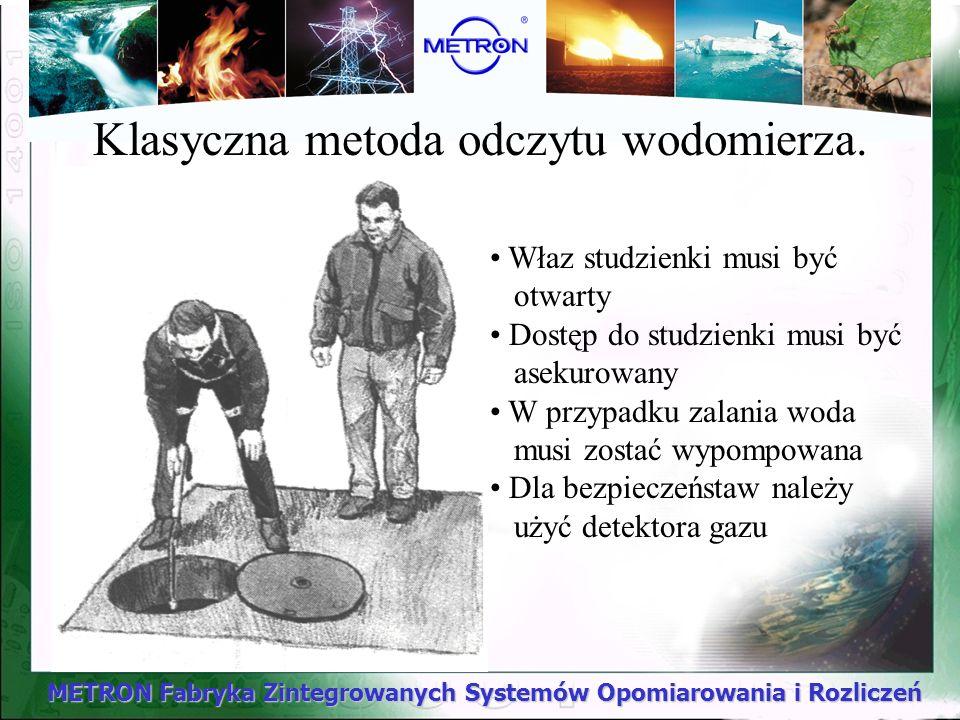 METRON Fabryka Zintegrowanych Systemów Opomiarowania i Rozliczeń Właz studzienki musi być otwarty Dostęp do studzienki musi być asekurowany W przypadk