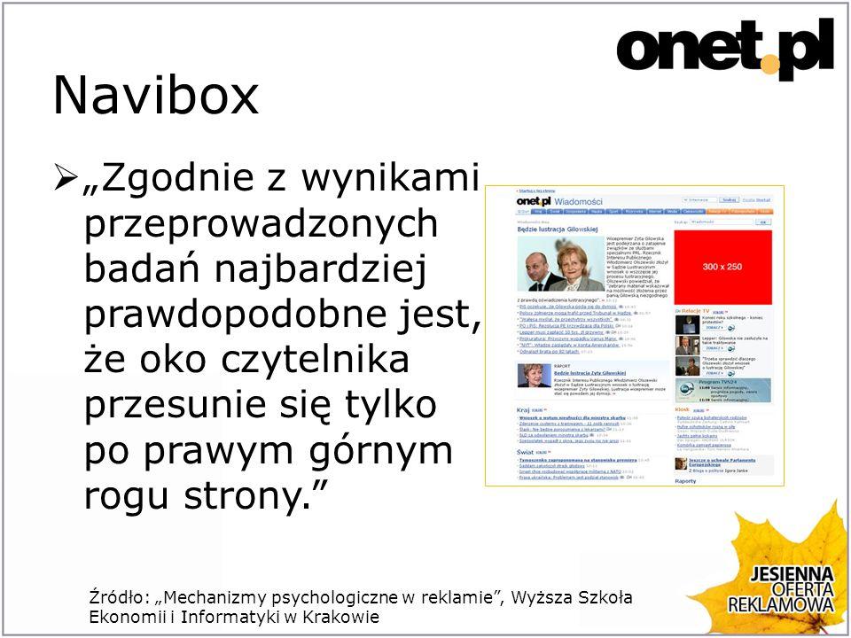 Navibox Zgodnie z wynikami przeprowadzonych badań najbardziej prawdopodobne jest, że oko czytelnika przesunie się tylko po prawym górnym rogu strony.