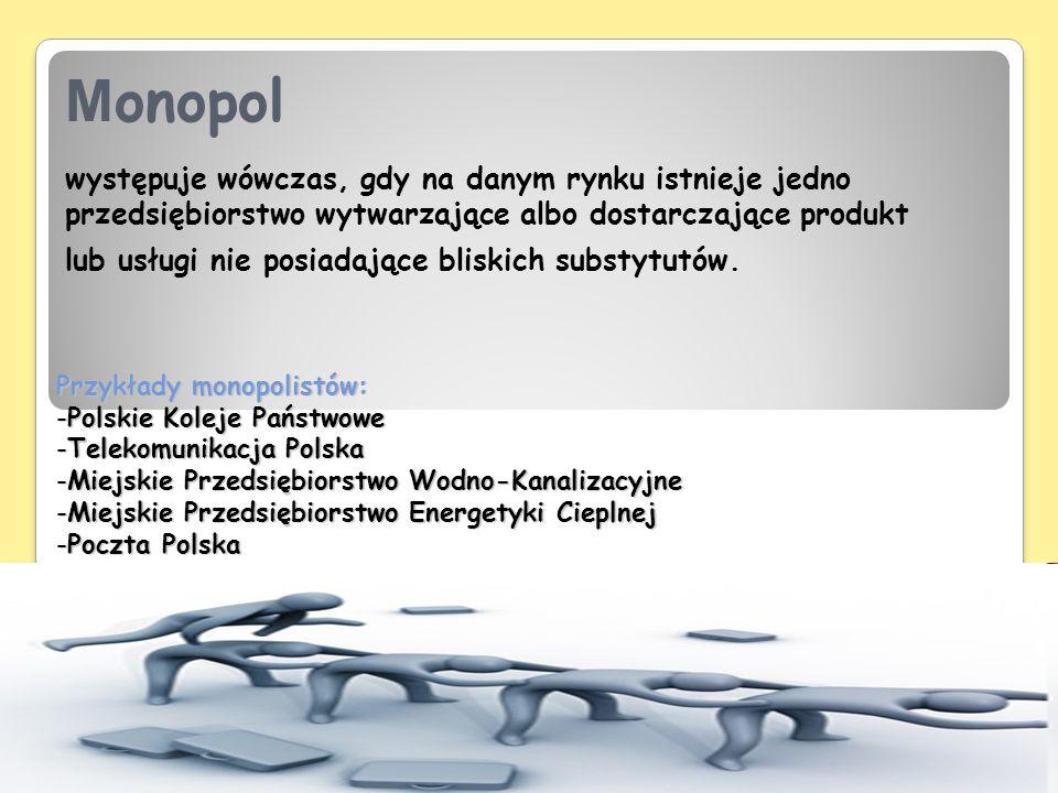 Założenia oligopolu: 1.