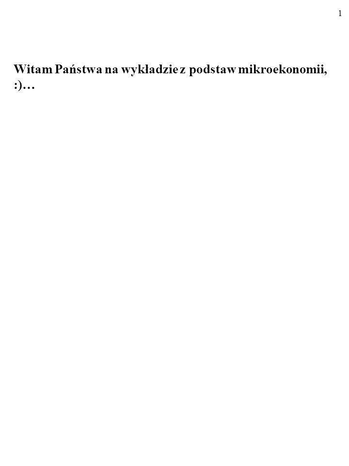 71 J WSPÓŁCZYNNIK ELASTYCZNOŚCI CENOWEJ POPYTU (MIESZANEJ) Małe!