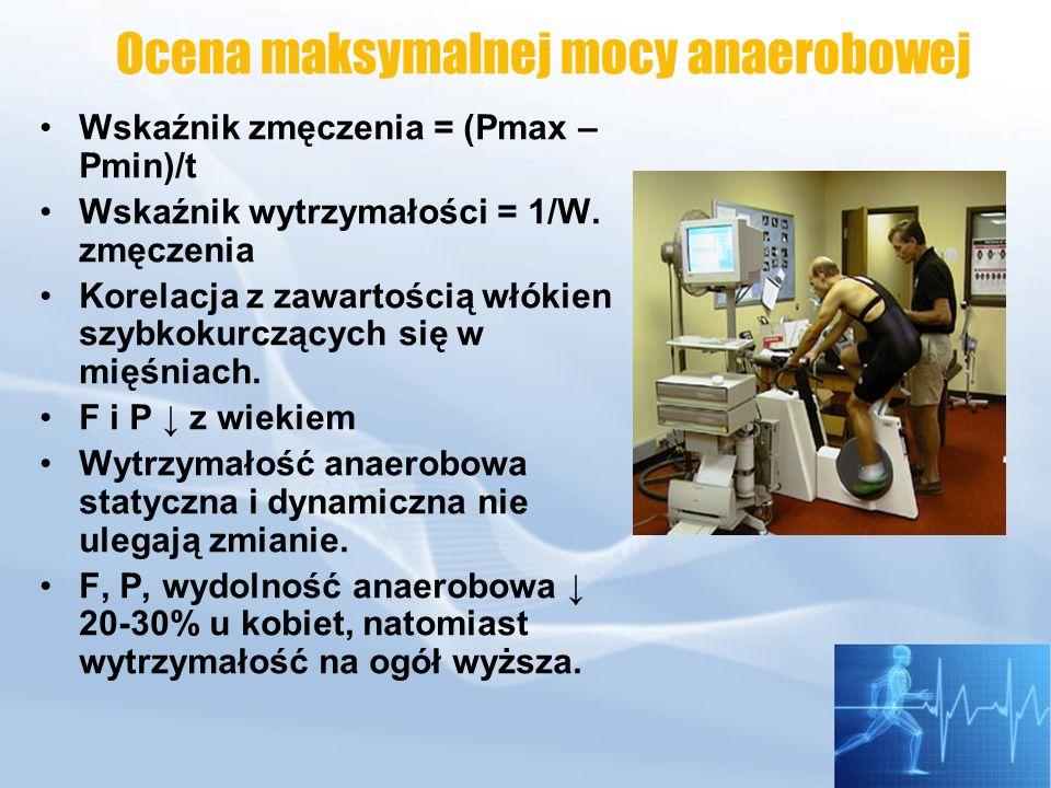 Test PWC 170 -Oznacza obciążenie wysiłkowe -HR 170 Próg anaerobowy AT Występuje przy wzrastających obciążeniach.