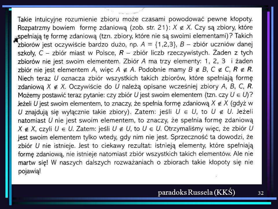 32 paradoks Russela (KKŚ)