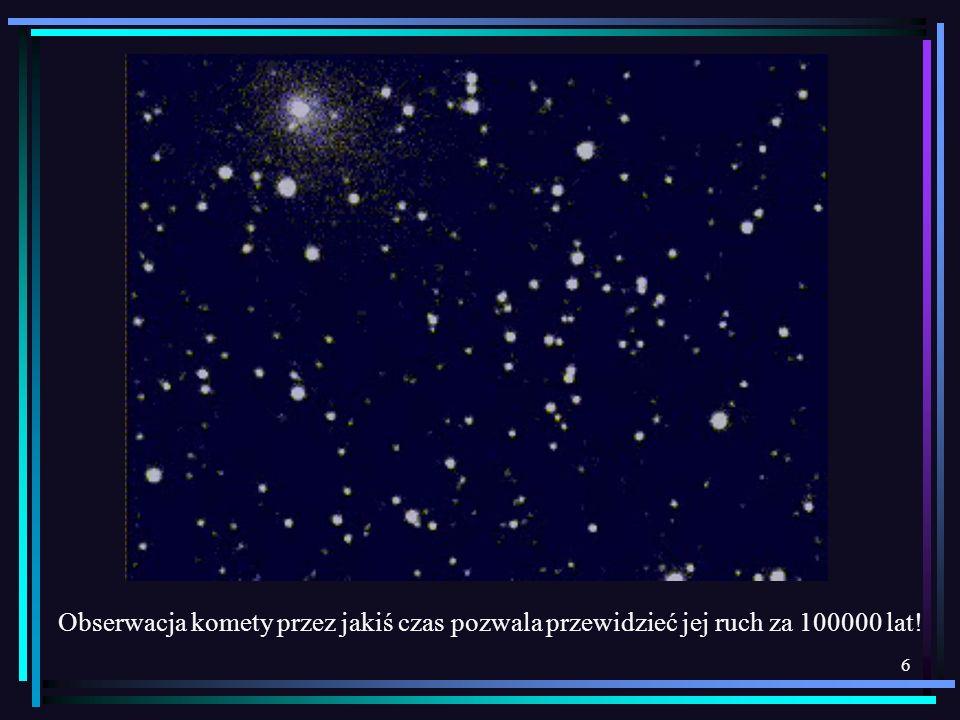 6 Obserwacja komety przez jakiś czas pozwala przewidzieć jej ruch za 100000 lat!
