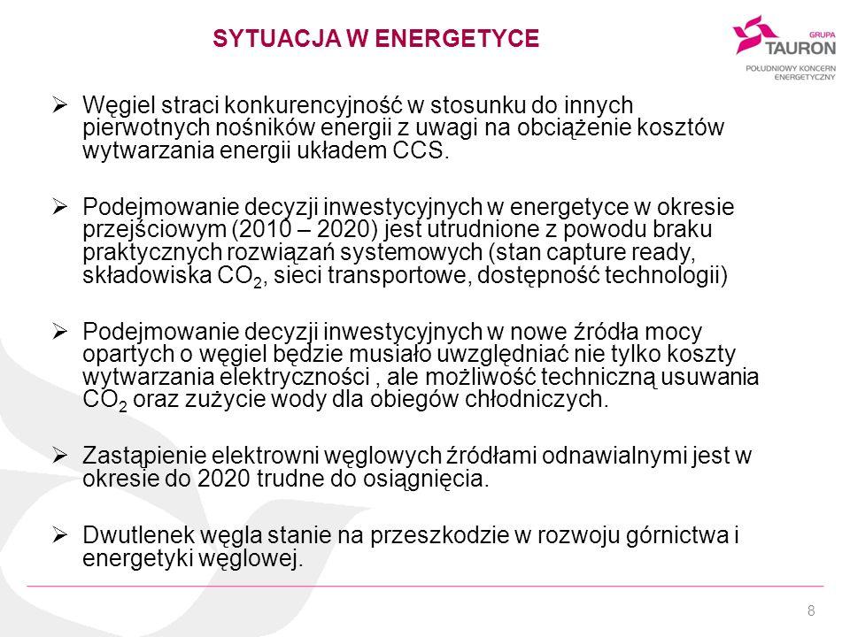 8 Węgiel straci konkurencyjność w stosunku do innych pierwotnych nośników energii z uwagi na obciążenie kosztów wytwarzania energii układem CCS. Podej