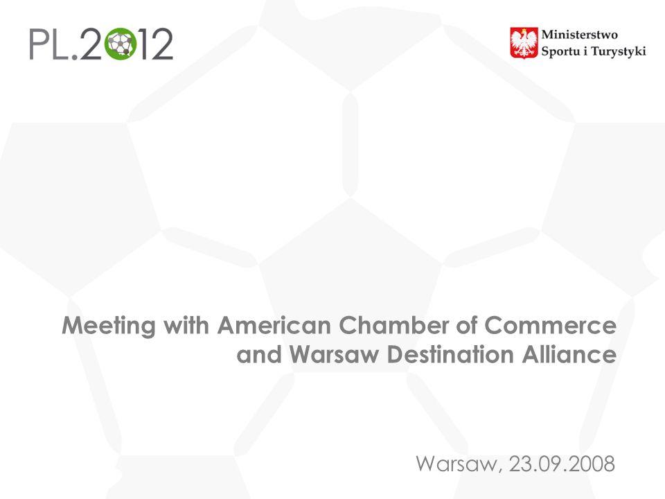 Tytuł prezentacji Miejscowość, DD MM RRRR Warsaw, 23.09.2008 Meeting with American Chamber of Commerce and Warsaw Destination Alliance