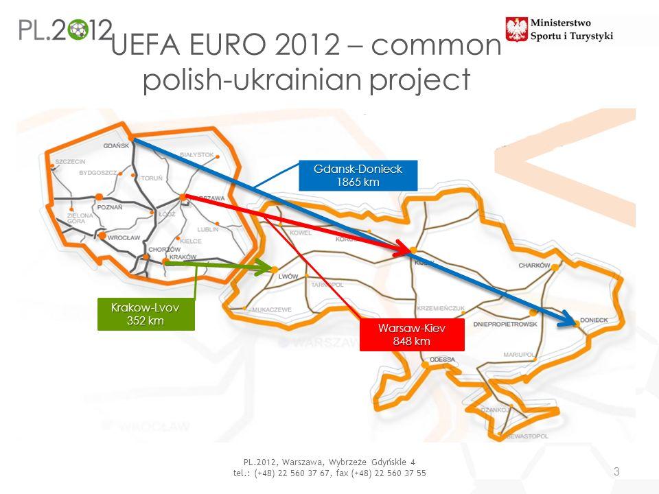 UEFA EURO 2012 – common polish-ukrainian project 3 PL.2012, Warszawa, Wybrzeże Gdyńskie 4 tel.: (+48) 22 560 37 67, fax (+48) 22 560 37 55 Warsaw-Kiev