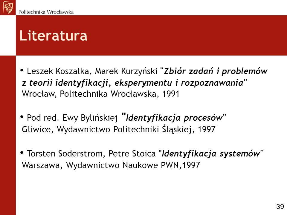 Literatura Leszek Koszałka, Marek Kurzyński