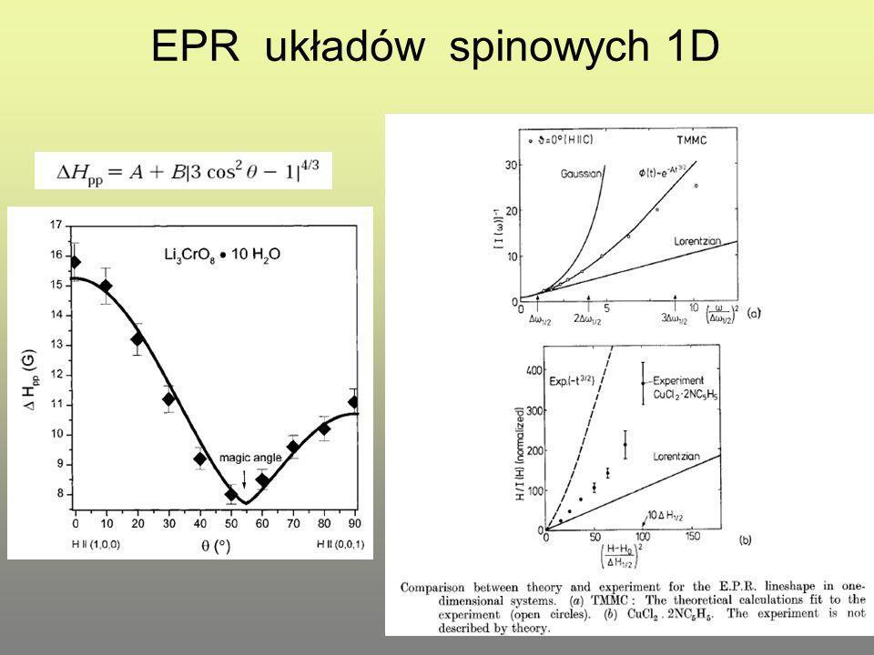 EPR układów spinowych 1D